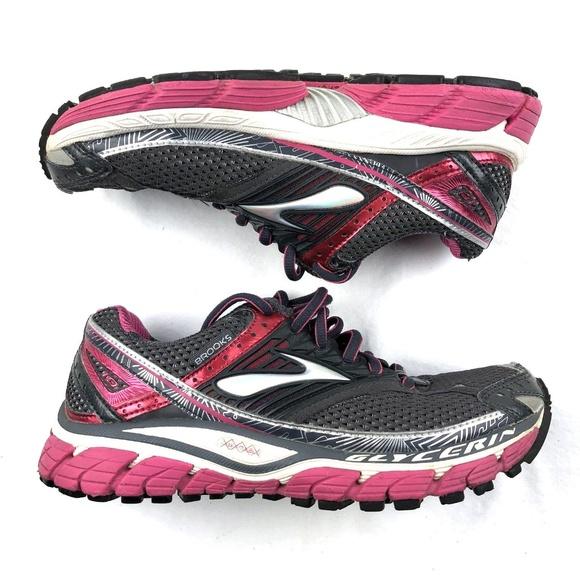 1dab0eab3b8c9 Brooks Shoes - Brooks Glycerin 10 Running Walking Shoe Pink Grey